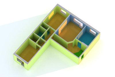 Beim Raumübergang wird ein Übergangsprofil benötigt.