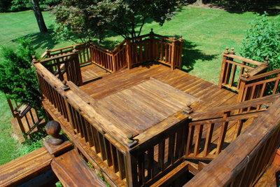 Bangkirai-Holz ist leicht zu reinigen.