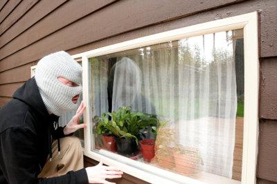 Einbrüche durch das Fenster sind häufig.