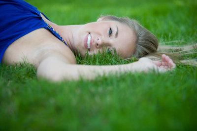 Gepflegter Rasen ist wie ein Teppich.