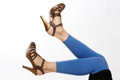 Leggings und High Heels passen immer.
