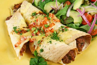 Enchiladas mit Hähnchen sind besonders lecker.
