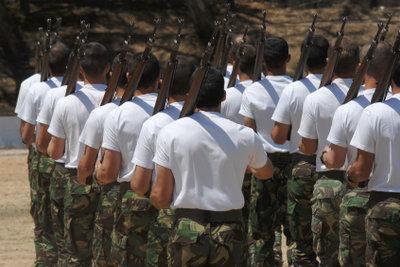 Körperliche Fitness gehört zum Beruf Soldat.