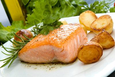 Ein leckeres Lachsfilet ist leicht zubereitet.