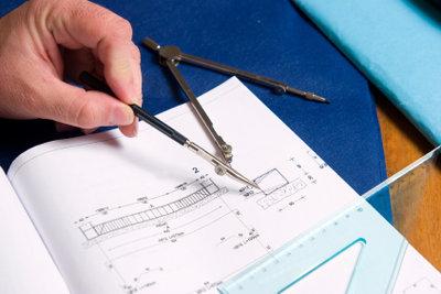 Baupläne gehören zum Bauantrag.