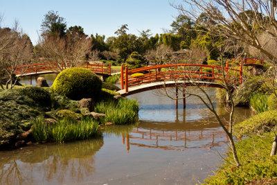 In japanische Gärten gehörten japanische Weiden