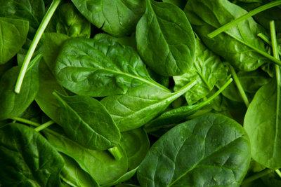 (Tiefgefrorener) Spinat ist eine bewährte Teigtaschenfüllung.