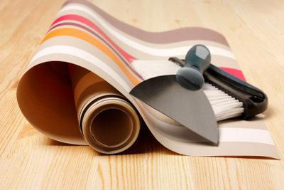 Vinyltapeten sind leicht zu tapezieren.