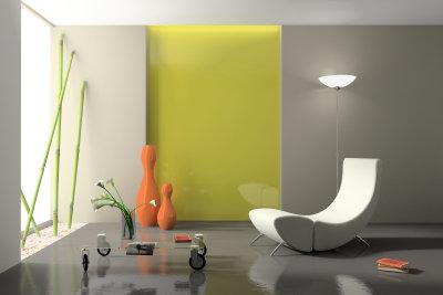 Individuelle Wohnraumgestaltung durch kreative  Farbgebung.
