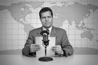 Nachrichtensprecher werden Sie mit viel Erfahrung.