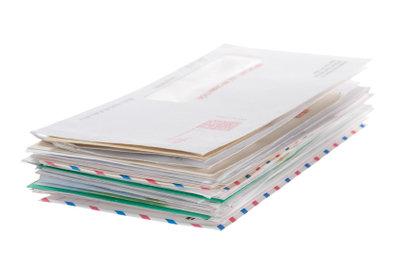Verschicken Sie wichtige Briefe am besten versichert.