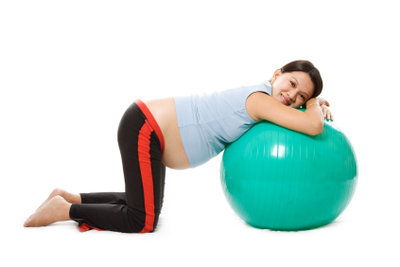 Gymnastik mit dem Sitzball.