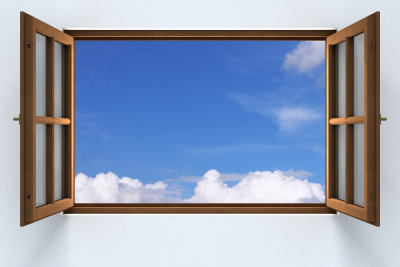 Bauen Sie alte Fenster selbst aus.