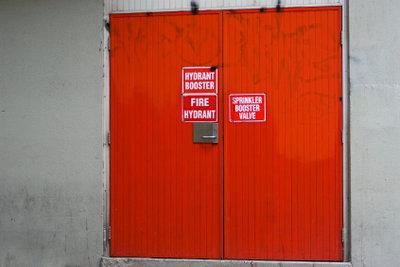 Brandschutztüren sind in manchen Gebäuden erforderlich.