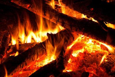 Prasselndes Kaminfeuer braucht trockenes, gutes Holz.