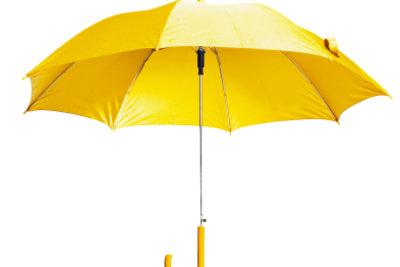Manchmal muss man mit Regenschirmen verreisen.