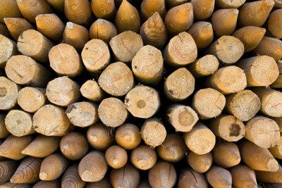 Kesseldruckimprägniertes Holz ist für Zaunpfosten geeignet.