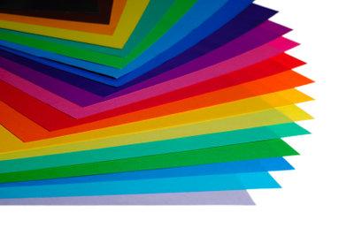 Moosgummi gibt es in vielen Farben.