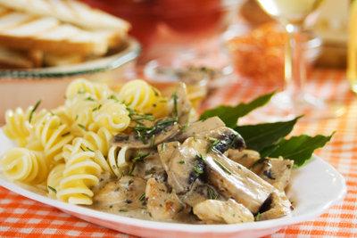 Pasta Funghi schmeckt Groß und Klein.
