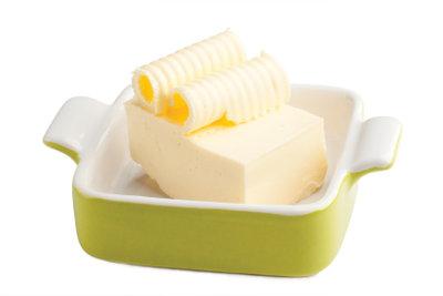 So frieren Sie Butter ein.