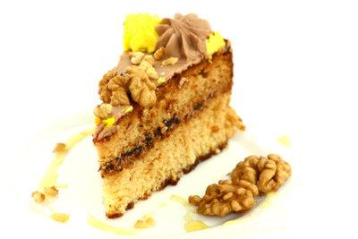 Die leckere Nuss-Sahne-Torte.