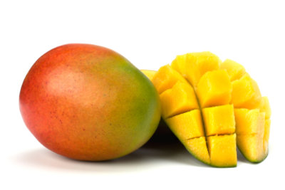 So geschnitten lassen sich Mangos essen.