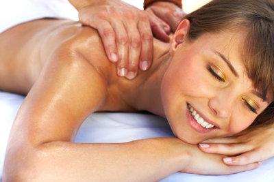 Eine Nackenmassage tut gut.