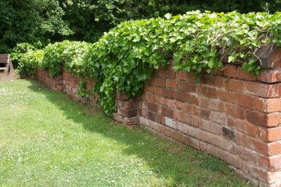 Auch eine Gartenmauer hat eine Statik.