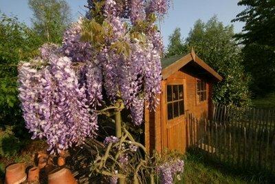 Ein Gartengrundstück dient der Entspannung.