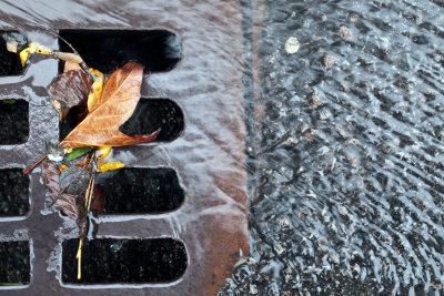 Entwässerungsrinnen führen Regenwasser rasch ab.