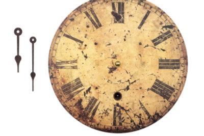 Restaurieren Sie alte Uhren mit Bedacht.
