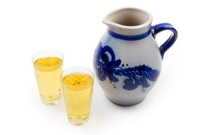 Apfelwein wird für das Weinhähnchen verwendet.