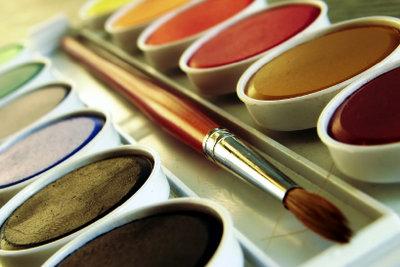 Malen Sie mit hochwertigen Farben.
