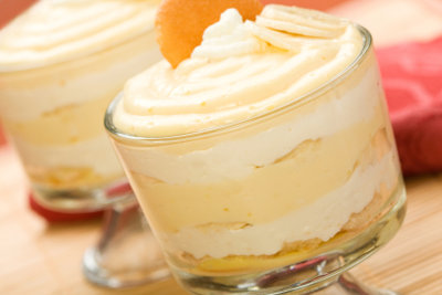 Desserts mit Sahne schmecken so lecker.