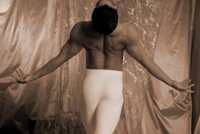 Nicht nur Tänzer tragen Strumpfhosen.