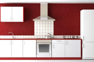 Mit Farbe gelingt die Küchengestaltung.