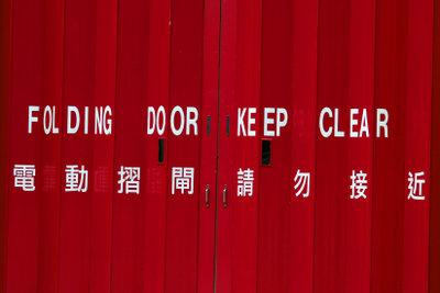 Falttüren können vielseitig eingesetzt werden.