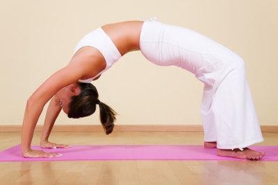 Mit Yoga dehnbar werden.