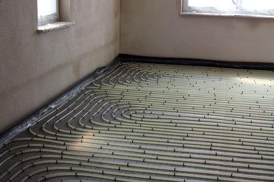 Trockenestrich lässt sich auf Fußbodenheizungen verlegen.