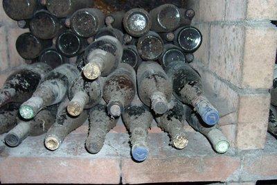Manche historische Weine liegen im Verborgenen.