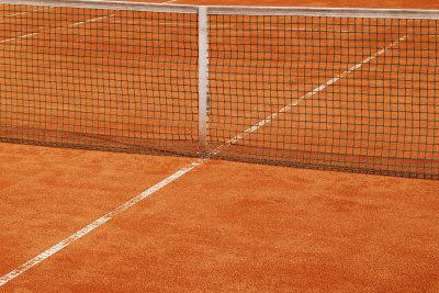 Ein Tennisnetz gehört zum Tennis dazu.