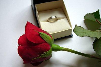 Ein Verlobungsring als Zeichen des Eheversprechens