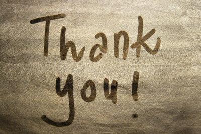 Halten Sie Danksagungen kurz und knapp.