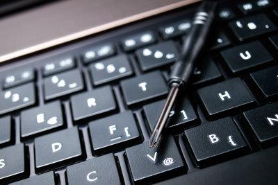 Das Umstellen der Tastatur ist einfach.