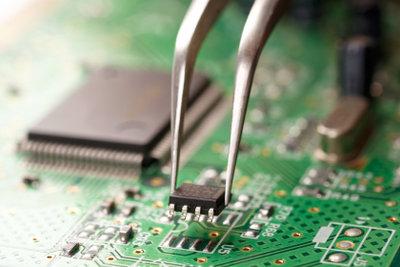 Elektronik-Lichtschranke auf einer Platine