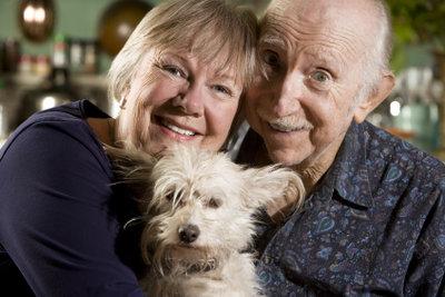 Senioren und Hunde - ein perfektes Team.