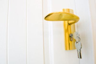 Ärgerlich: Der Schlüssel steckt von innen.
