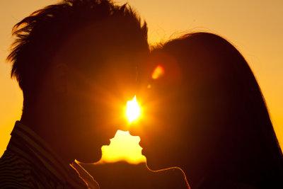 Nichts geht über einen romantischen Sonnenuntergang.