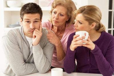 Streit mit der Schwiegermutter ist belastend.