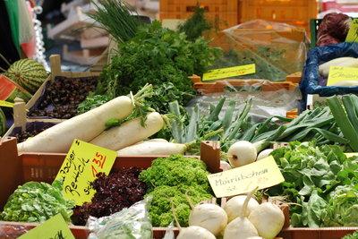 Alle grünen Nahrungsmittel sind erlaubt.
